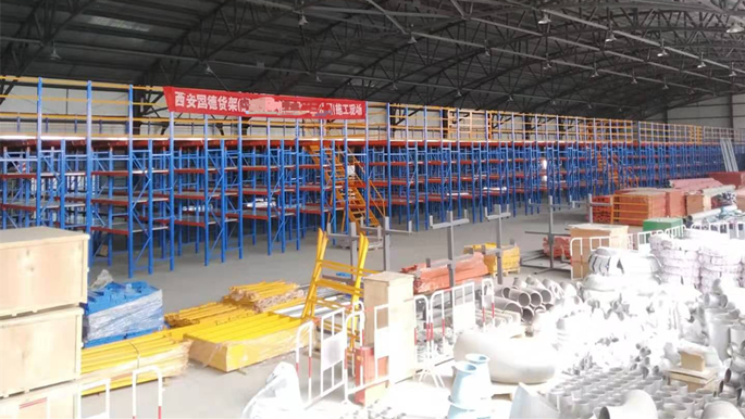 甘肃冶金矿产行业阁楼平台货架案例