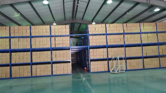 宁夏某银行阁楼货架改造安装成功