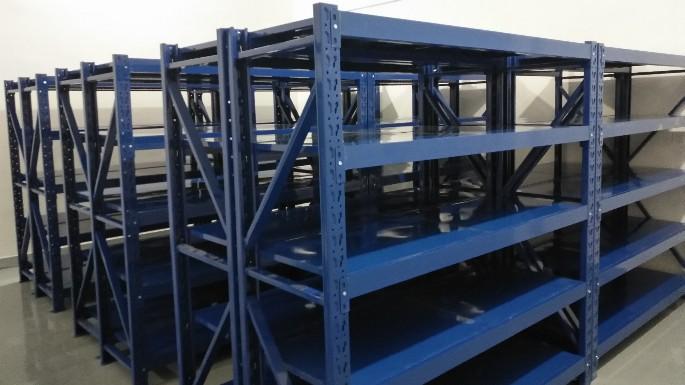 安徽淮北电力行业中型货架悬臂货架案例