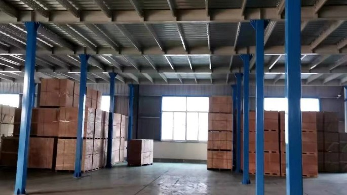 南京机电行业1000平钢平台货架案例