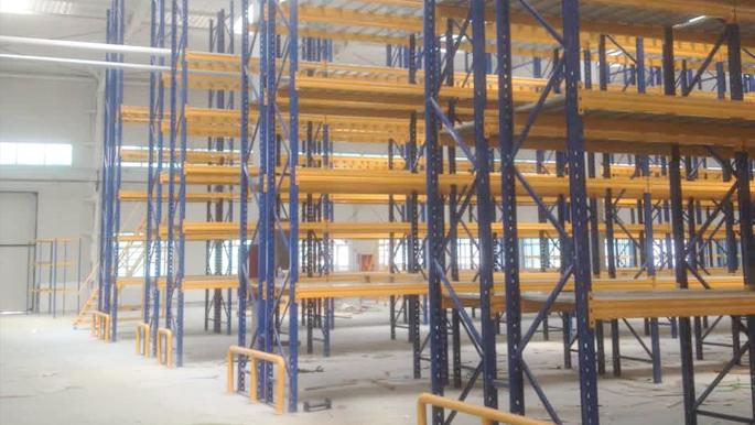 国德货架为新疆某大型汽配仓库设计定制重型货架
